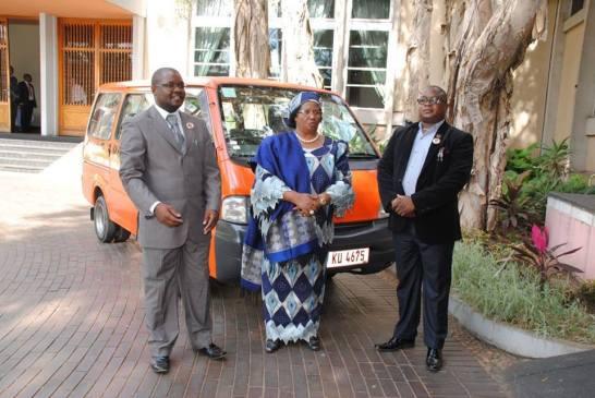 Joyce Banda with cash gate convict and PP financier Lutepo